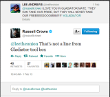 Twitter Tuesday: Russell Crowe's weekend
