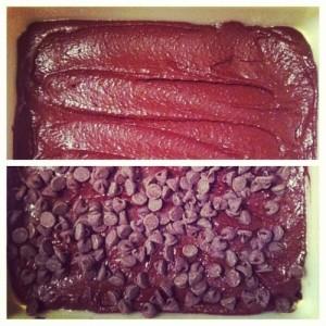 Black Bean Brownies Before & After