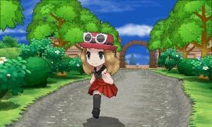 The 'girl' avatar of Pokémon XY.